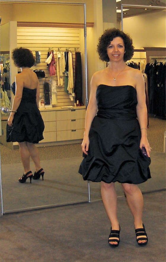 "The ""After"" pic June 2013, down 23 lbs from the initial purchase of this dress in November."