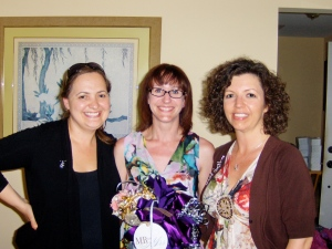 Terri's bridal shower June 2013 - Casey (left), Terri (center), me (right)